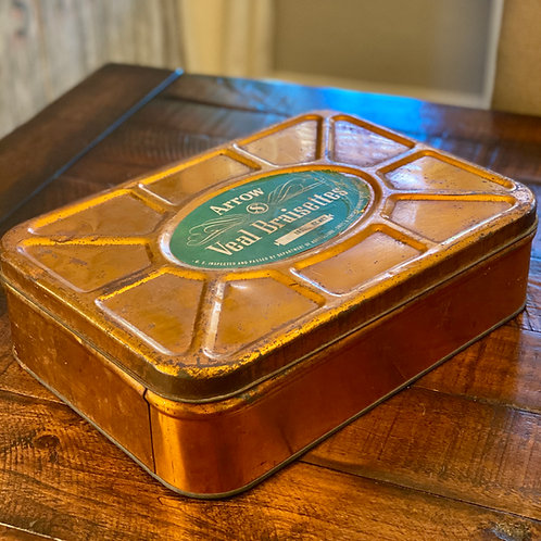 Vintage Copper Food Tin