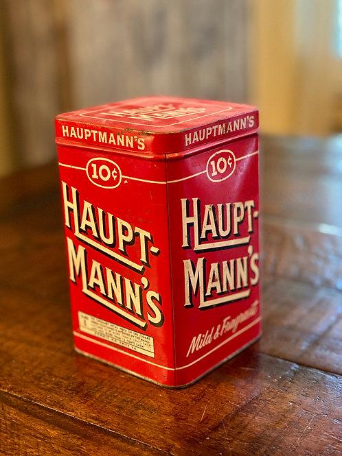Vintage Hauptmanns Tobacco Tin