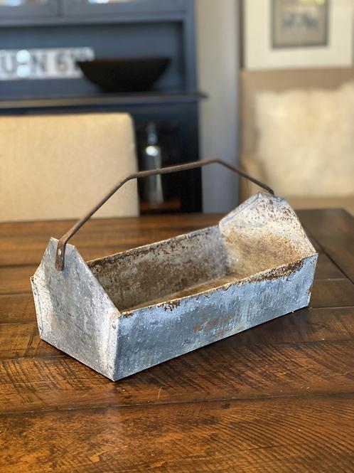 Vintage Galvanized Toolbox