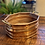 Thumbnail: Antique Copper Octogan Bowl with Brass Handles