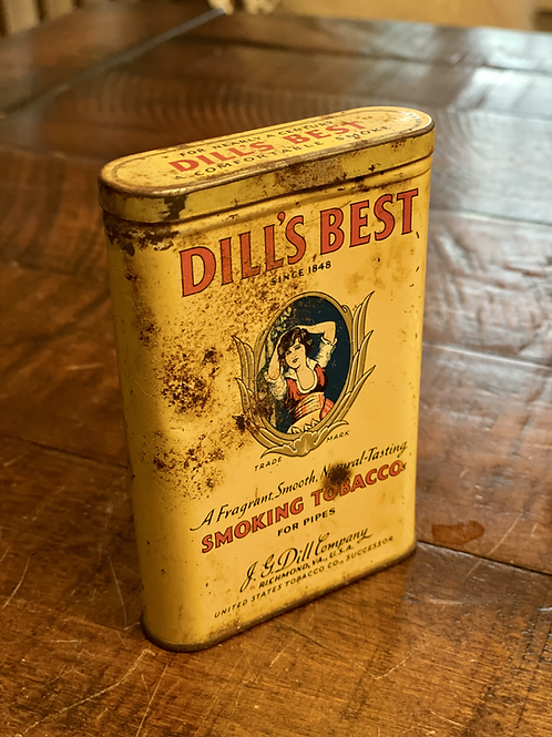 Antique Dills Best Pocket Tin