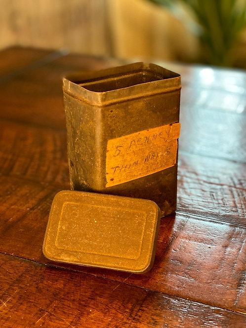 Vintage Rectangular Tool Tin