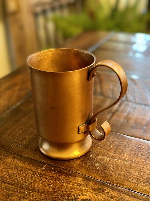 Vintage Brushed Copper Mug