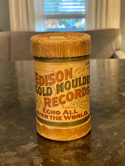 Edison Tube Moulded Record Container