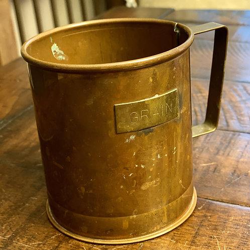 Antique Medium Solid Copper Grain Cup
