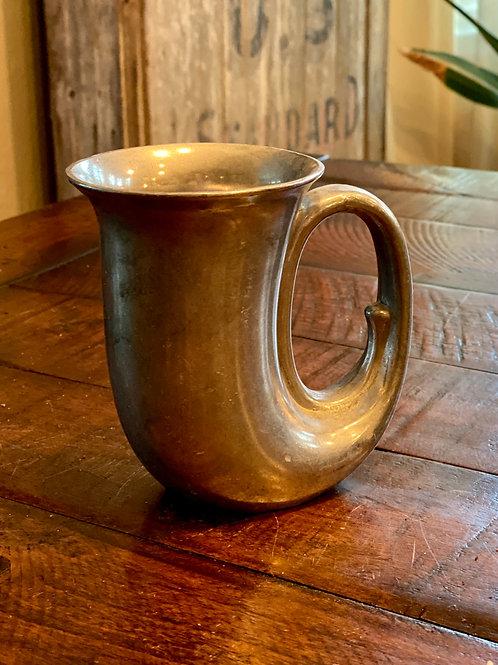 Vintage Pewter Horn Mug
