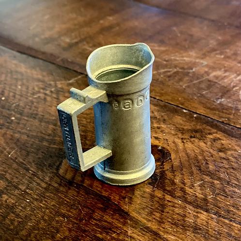 Antique Centiliter Pewter Measuring Cup
