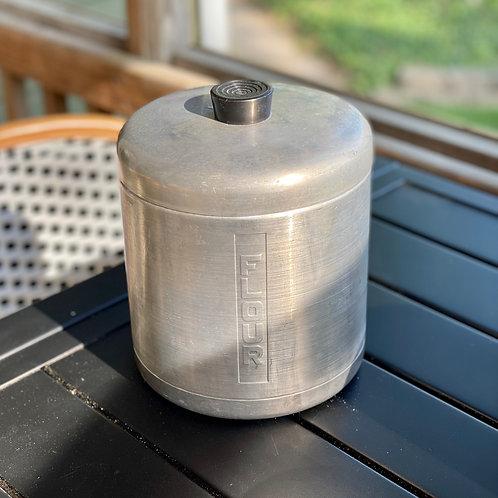 Vintage Tin Flour Canister