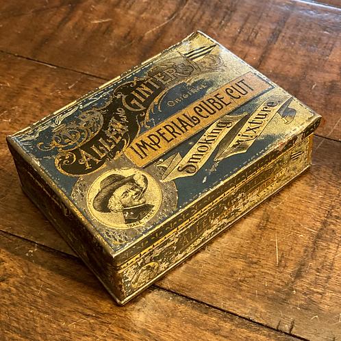 RARE Allen & Ginter Hinged Tobacco Tin