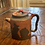 Thumbnail: Vintage Asian Orange/Brown Clay Teapot