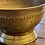 Thumbnail: Antique Brass Etched Footed Bowl