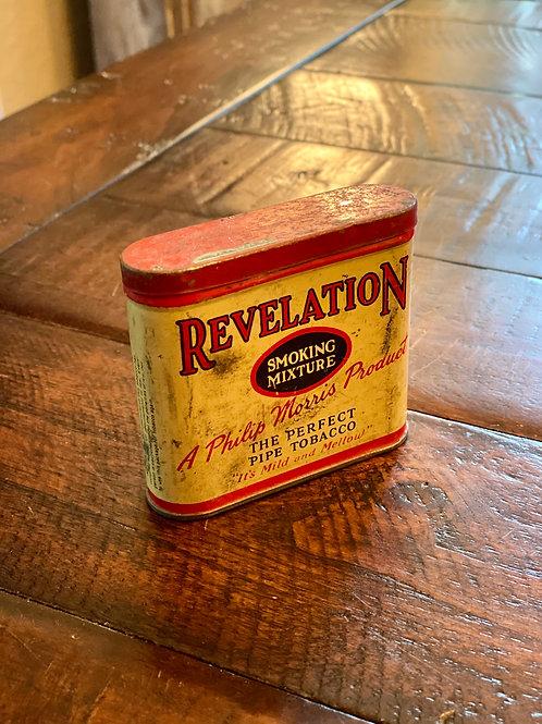 Vintage Revelation Hinged Tin
