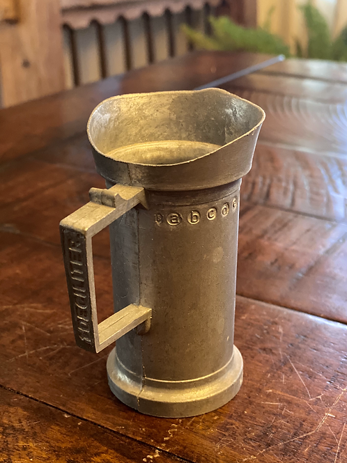 Antique 1 Deciliter Pewter Measuring Cup