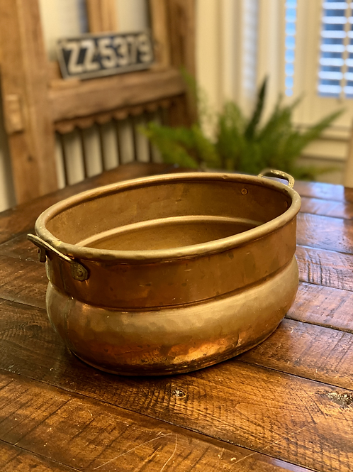 Medium Oval Hammered Copper Vessel