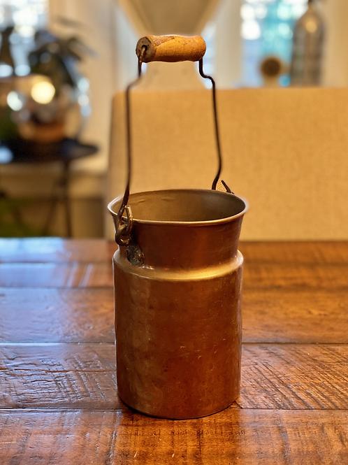 Vintage Copper Vessel with Wood Handle