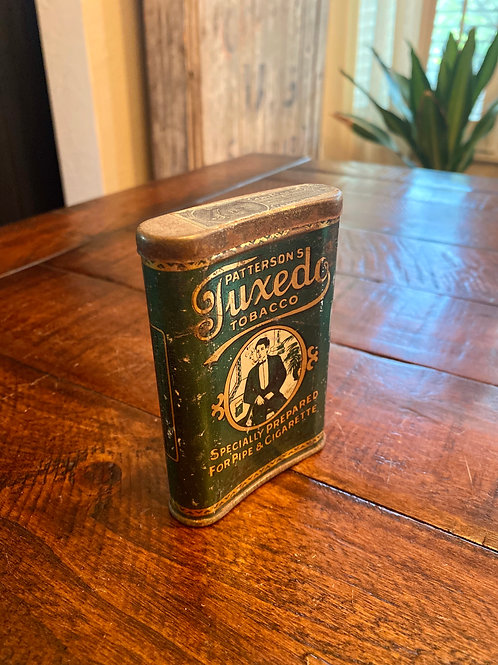 Antique Tuxedo Tobacco Curved Tin