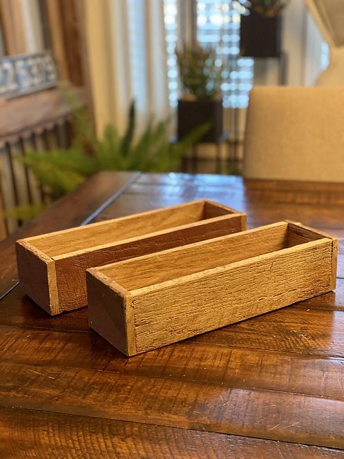 Reclaimed Wood Horizontal Box