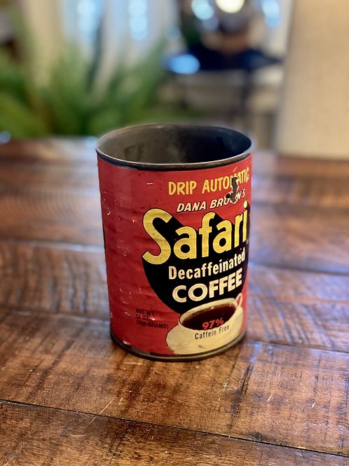 Vintage Safari Coffee Tin