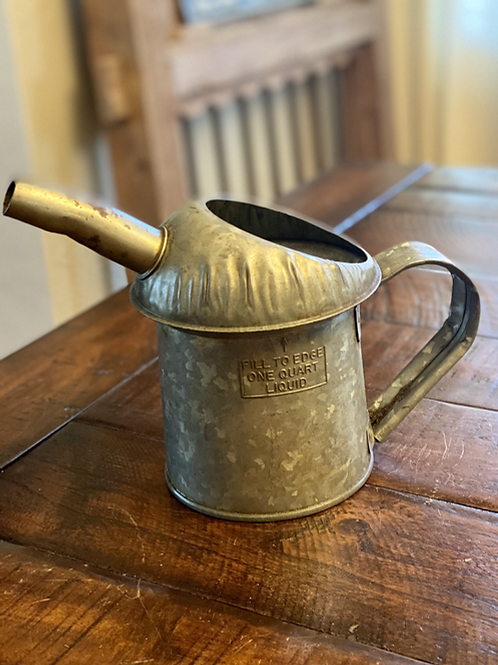 Vintage Steel Oil Can