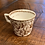 Thumbnail: Antique Brown and White Baby Cup