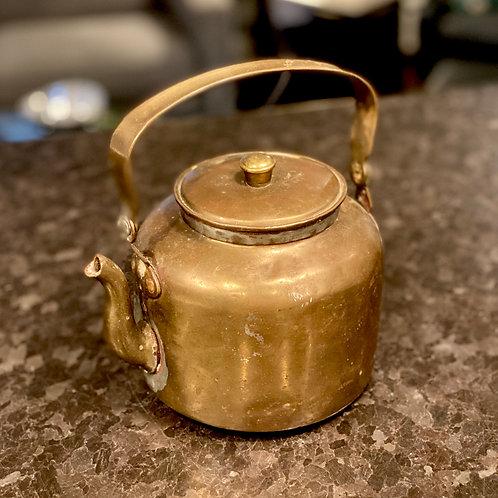 Antique Solid Copper Teapot