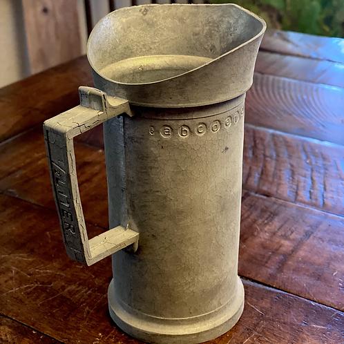 Antique 1/2 Liter Pewter Measuring Cup