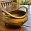 Thumbnail: Antique Etched Footed Brass Bowl