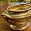 Thumbnail: Antique Solid Pewter Gravy Bowl