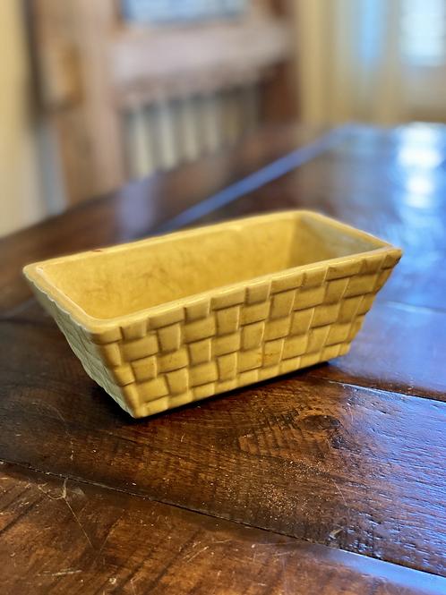 Vintage Brush Basketweave Pottery