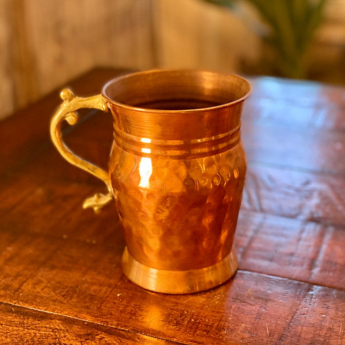 Antique Hammered Copper Chalice
