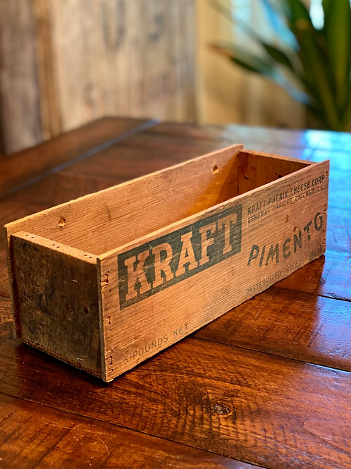Vintage Kraft Pimento Wood Box