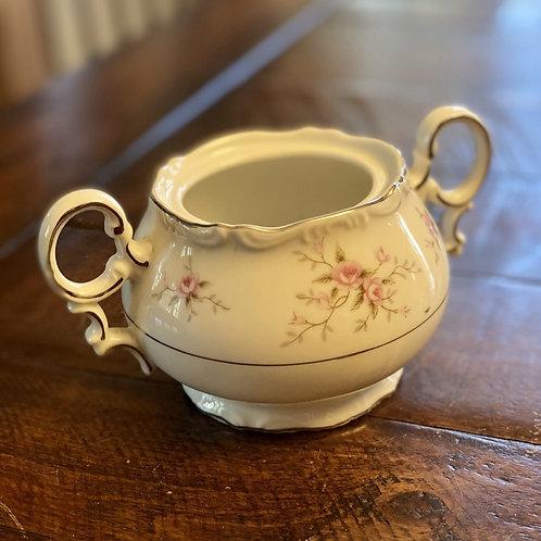 Antique Ornate Ceramic Sugar Bowl