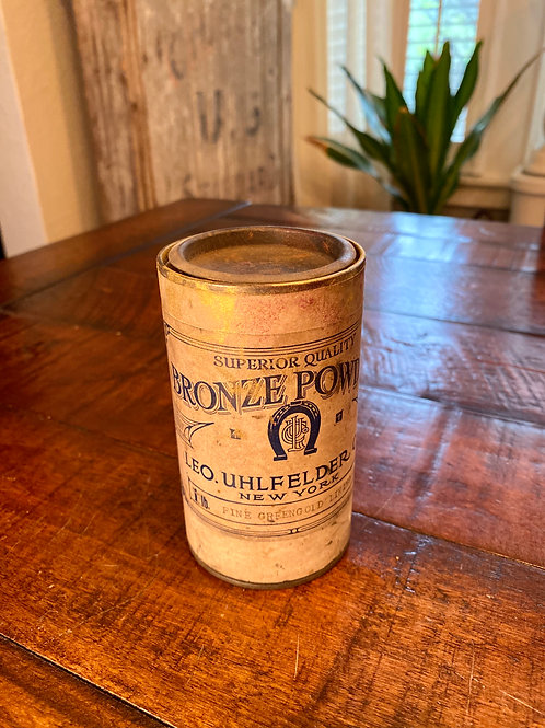 Vintage Bronzing Powder Tin