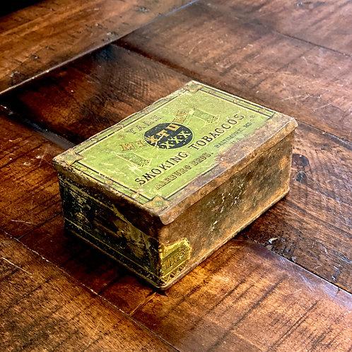 Vintage Hinged Tobacco Tin