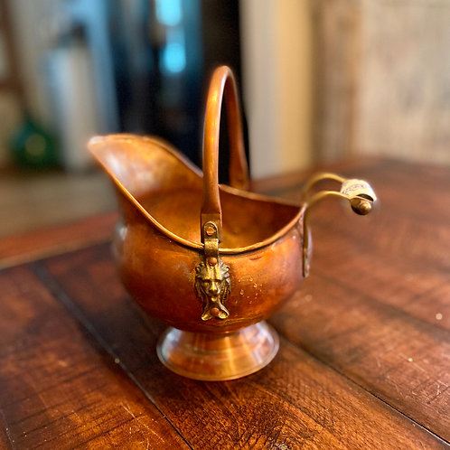 Antique Medium Copper Coal Scuttle