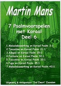 Psalmbewerkingen Book 6 - Martin Mans