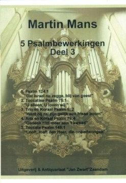 Psalmbewerkingen Book 3 - Martin Mans