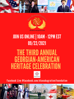 Georgian American Heritage Day Poster 2021