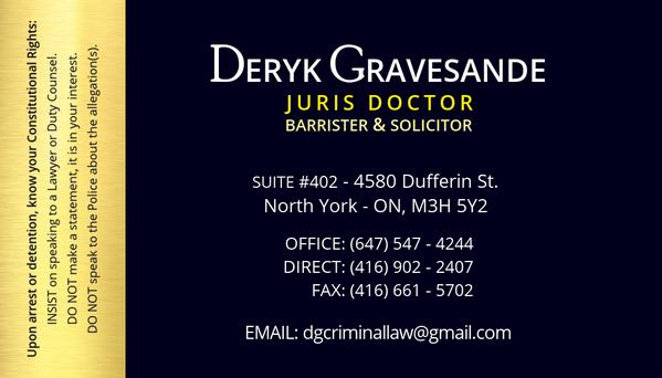 Derek Gravesande - Card Back