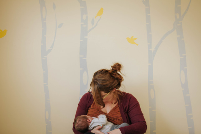 Ash's Lifestyle Newborn Session- Tandem Nursing and Coffee
