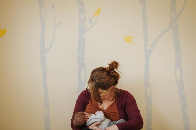 Ash's Lifestyle Newborn Session- Tandem Nursing and Coffee
