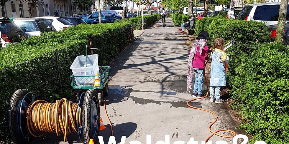 Samstag 29.8.2020 Waldstraße Moabit - die 30.ehrenamtliche Bewässerung