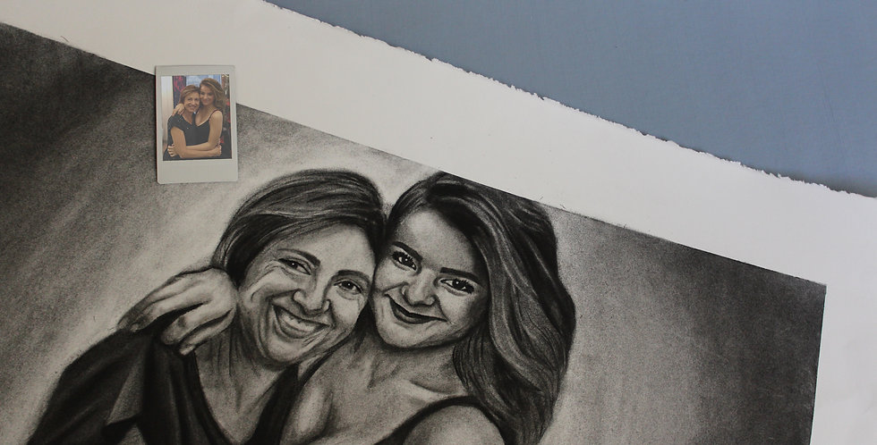 Custom Traditional Charcoal Portrait