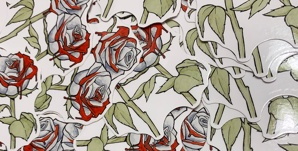 """""""Paint the Roses Red"""" Sticker"""
