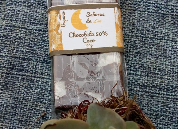 Chocolate Vegano com Coco