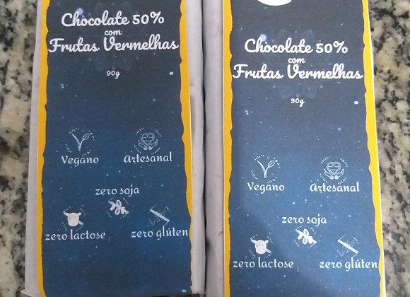 Chocolate Vegano com Frutas vermelhas