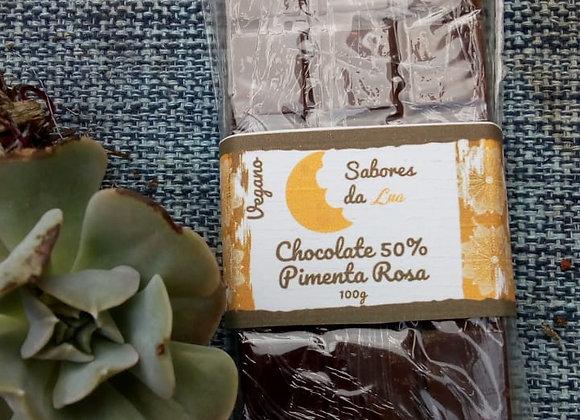Chocolate Vegano com Pimenta Rosa