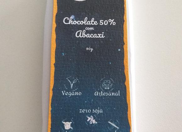 Chocolate Vegano com Abacaxi