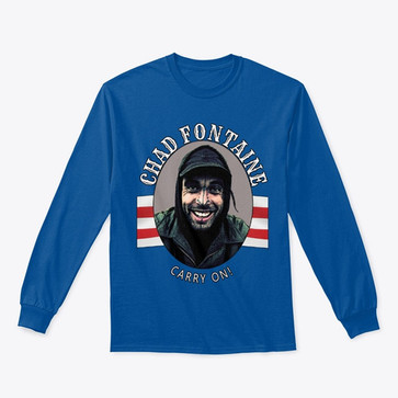 Chad Fontaine Carry On Blue Longsleeve t