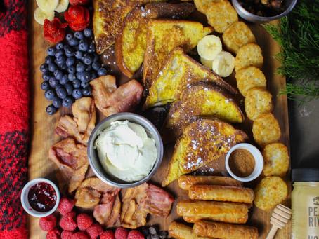 Breakfast Grazing Board | Charcuterie Board Inspiration | Charcuterie Board Ideas